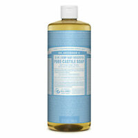 Dr Bronners Pure Castile Soap Liquid (Hemp 18-in-1) Baby Unscented 946ml
