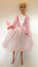 Barbie Puppe / glänzend rosa weiß Oberteil / Tüll Rock / Prinzessin / Princess