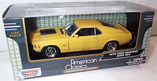1970 Ford Mustang Boss 429 in Yellow Motor Max 1-24 Scale Model New in box
