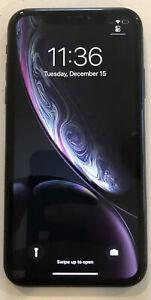 USED BLACK CDMA + GSM UNLOCKED APPLE iPhone XR, 64GB A1984 MT472LL/A M200H
