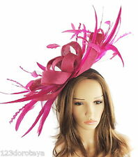 Cerise Magenta Dark Pink Fascinator for Ascot, Weddings, Proms, Derby P1
