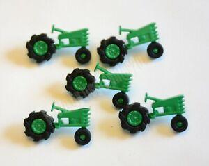 Plowin Thru / Green Farming Tractor Shank Buttons / Jesse James ~ Dress It Up
