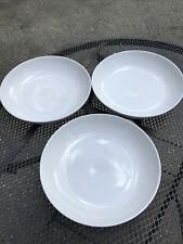 3 Crate & Barrel 10� White Round Porcelain Pasta or Serving Bowls by Martin Hunt