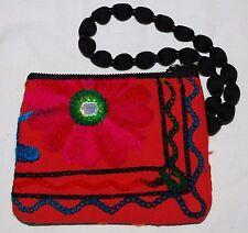 Nueva cartera bolsa pequeña Algodón Tejido Fair Trade Hippy étnico Nepal étnicos