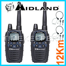 12km Midland G7 pro double bande talkie walkie radio deux voies ski & karting