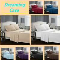 Egyptian Comfort 1800 Count 4 Piece Deep Pocket Bed Sheet Set King Queen Size G1