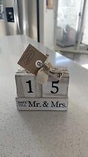 NWT Mud pie Wedding Block Countdown