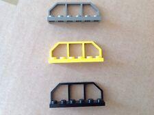 3 x Genuine LEGO TRENO/FERROVIARIO CARRO FINE SCHERMA/bar/Pannello (parte no. 6583)