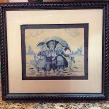 Needlepoint Finished Framed Hummel Vintage Picture