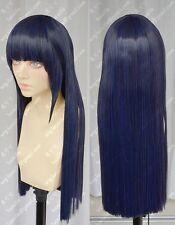NARUTO Hyuuga Hinata Anime Costume Cosplay Wig +Track +Free Cap