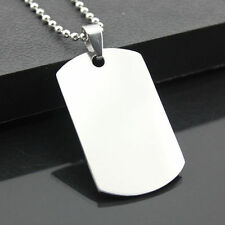 Man Cool Military Army Style ID Dog Tags Stainless Steel Pendant Jewelry