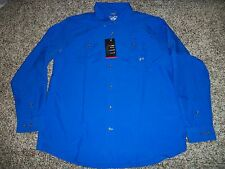 Under Armour Chesapeake Shirt Long Sleeve 1253149 Heat Gear Loose Fit Blue UA L