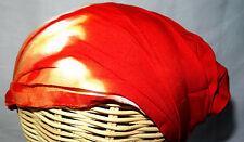 Bandeau à Cheveux Serre tête Fichu Ethnique Tie and dye Hippie orange rouge