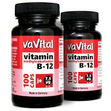 VITAMIN B12 - 7,5µg je Kapsel | 2 Dosen je 100 Kapseln |100% Vegan | vaVital