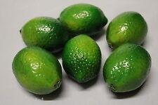 6 Best Artificial 6.5cm Alourdi CITRONS VERTS Décorative Réaliste Bol de Fruit