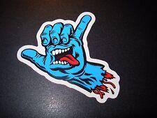 SANTA CRUZ Skate Sticker Blue Screaming Hand Hang Ten skateboard helmets decal