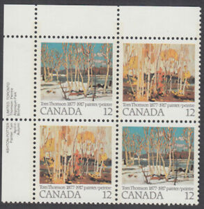 Canada - #734a Tom Thomson Paintings Plate Block - MNH