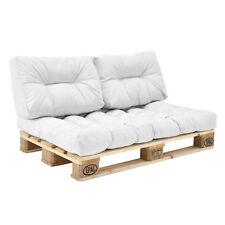 [en.casa] 1x Cojín de respaldo para sofá-palé para interior y exterior blanco