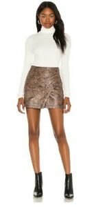 Free People Printed Fake Out Mini Wrap Skirt BNWT Size Xs RRP £85
