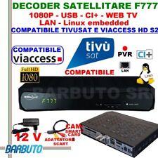 DECODER SAT HD S2 DIGIQUEST F777 LINUX - COMPATIBILE TIVUSAT E TV SVIZZERA