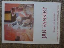 affiche JAN VANRIET  galerie Paris  635 X 455 mm