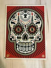 Shepard Fairey Power and Glory Skull Red poster Obey Giant S/N silkscreen 450