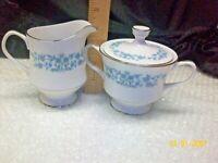 Sango Japan Fine China Sango 3785 Lidded Sugar Bowl & Creamer