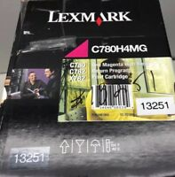 New Lexmark C780H4MG Magenta Toner Cartridge Return Program High Yield Open Box
