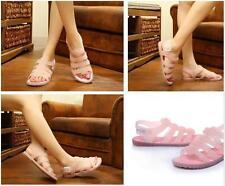 donna hot Roma in gomma fibbia traspirante SOLIDO CONFORTEVOLE basse sandali di