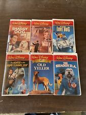 Walt Disney Film Classics Collection Lot Of 6 Vhs Tapes Shaggy Dog Love Bug Vg+
