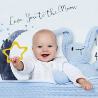 Baby Milestone Blanket Mat Photography Background Props Monthly Growth Photo UK