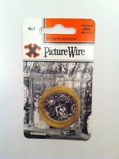 'X' Brass 3m Picture Hanging Wire (No 1) With 6kg Max Load ~Best Quality~