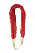 Fishtail Braided Elastic Headband - Scarlet Red NEW