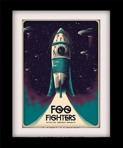 FOO FIGHTERS Poster Rocket Print Mounted or Framed FREE POSTAGE ref9