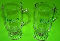 *NEW* BEAUTIFUL RARE SET OF 2 SAINT BRENDAN'S IRISH CREAM LIQUEUR GLASS MUGS