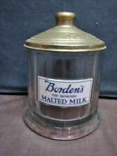 HTF Borden's Malted Milk Container w/Metal Lid