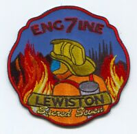 Lewiston Fire Department Engine 7 Patch Maine ME