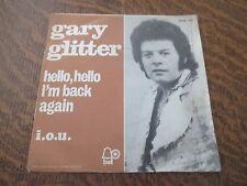 45 tours GARY GLITTER hello, hello i'm back again