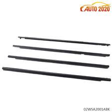 4pcs Car Side Window Trim Door Belt Molding Weatherstrip Fit For Toyota Corolla
