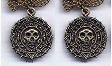 2 Pirates of the Caribbean Promo Cursed Aztec Skull Medallion Coin Ring Disney
