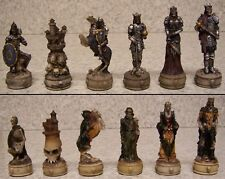 Chess Set Pieces Medieval Skeleton Knights NIB