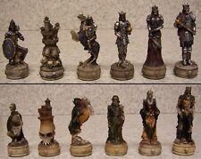 Chess Set Pieces Medieval Skeleton Knights NIB