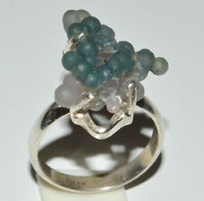 Grape Agate Crystal Chalcedony 925 Sterling Silver Rings s.7 JB13270