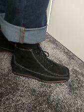 Stiefelette Boots 38 5 1/2  Ara schwarz Leder Wildleder Rauleder