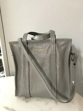 Balenciaga 2018 Small Grey Gray Arena Leather Bazar Bag Cabas Shopper Tote