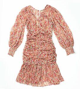 By TIMO XS UK 6 8 Free People Semi Sheer Chiffon Ditsy Floral Dress Boho Hippie