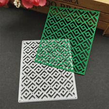 grid Metal Cutting Dies Stencil Scrapbooking Card Paper Embossing Craft Die Cut.