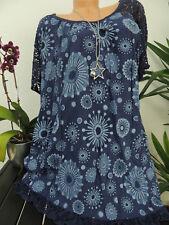 Damen Bluse Größe 46 48 50 52 54 Übergröße Übergrößen Tunika Blusen T Shirt 129F