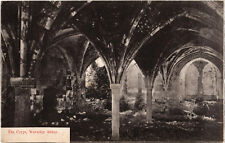 Farnham, Waverley Abbey, The Crypt, old b+w postcard, unposted