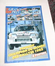 GRAND PRIX INTERNATIONAL GPI MAGAZINE POSTER BOOK WRC CHAMP PEUGEOT 1985